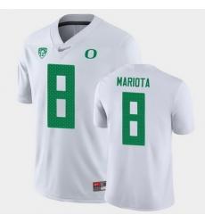 Men Oregon Ducks Marcus Mariota Game White College Football Jersey