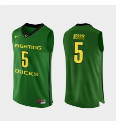 Men Oregon Ducks Miles Norris Apple Green Authentic College Basketball Jersey