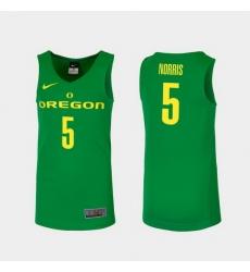 Men Oregon Ducks Miles Norris Green Replica College Basketball Jersey