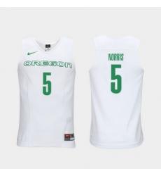 Men Oregon Ducks Miles Norris White Elite Authentic Performance College Basketball Jersey