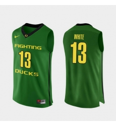 Men Oregon Ducks Paul White Apple Green Authentic College Basketball Jersey