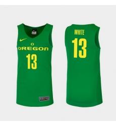 Men Oregon Ducks Paul White Green Replica College Basketball Jersey