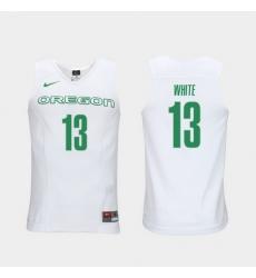 Men Oregon Ducks Paul White White Elite Authentic Performance College Basketball Jersey