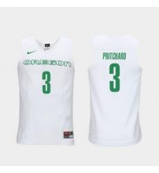 Men Oregon Ducks Payton Pritchard White Elite Authentic Performance College Basketball Jersey