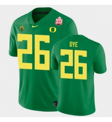 Men Oregon Ducks Travis Dye 2021 Fiesta Bowl Green Game Jersey 0A
