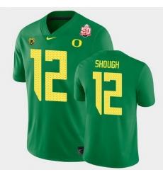 Men Oregon Ducks Tyler Shough 2021 Fiesta Bowl Green Game Jersey 0A