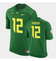 Men Oregon Ducks Tyler Shough Replica Green Game Football Jersey