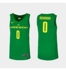 Men Oregon Ducks Will Richardson Green Replica College Basketball Jersey