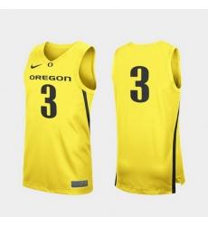 Men Oregon Ducks Yellow Replica College Basketball Jersey 0A