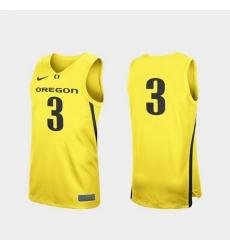 Men Oregon Ducks Yellow Replica College Basketball Jersey
