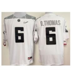 NCAA Oregon Ducks 6 D.THOMAS white NFL Jersey
