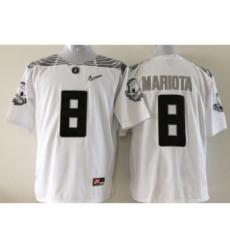 NCAA Oregon Ducks #8 Mariota white jerseys