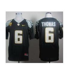 Ncaa Oregon Ducks De Anthony Thomas #6 Black College Football Jerseys