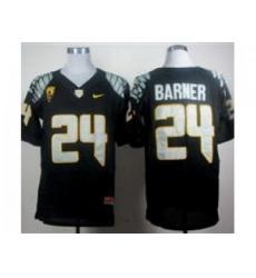Ncaa Oregon Ducks Kenjon Barner #24 Black College Football Jerseys