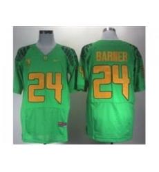 Ncaa Oregon Ducks Kenjon Barner #24 Green College Football Jerseys