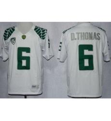 Oregon Duck 6 De'Anthony Thomas White Limited NCAA Jerseys