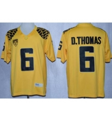 Oregon Duck 6 De'Anthony Thomas Yellow Limited NCAA Jerseys