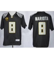 Oregon Duck 8 Marcus Mariota Black Limited NCAA Jerseys