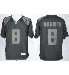 Oregon Duck 8 Marcus Mariota Blackout Limited NCAA Jerseys