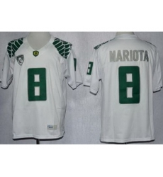 Oregon Duck 8 Marcus Mariota White Limited NCAA Jerseys