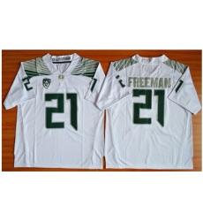 Oregon Ducks #21 Royce Freeman White Limited Stitched NCAA Jersey