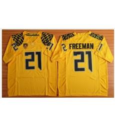 Oregon Ducks #21 Royce Freeman Yellow Limited Stitched NCAA Jersey