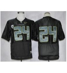 Oregon Ducks #24 Thomas Tyner Black Combat Stitched NCAA Jersey