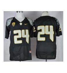 Oregon Ducks #24 Thomas Tyner Black Elite PAC-12 Patch Stitched NCAA Jersey