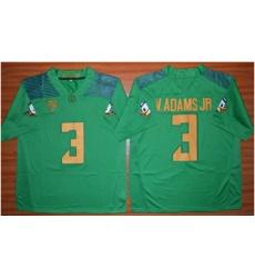 Oregon Ducks #3 Vernon Adams Jr  Green Stitched NCAA Jersey