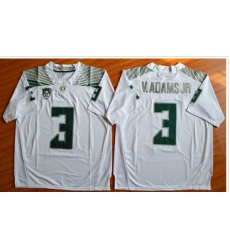 Oregon Ducks #3 Vernon Adams Jr. Olive White Stitched NCAA Jersey