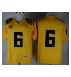 Oregon Ducks #6 Charles Nelson Yellow Limited Stitched NCAA Jersey