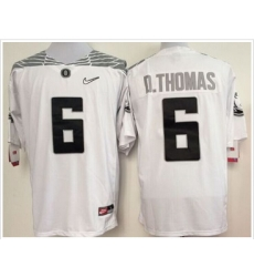 Oregon Ducks #6 De'Anthony Thomas White Diamond Quest Stitched NCAA Jersey