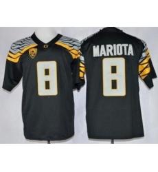 Oregon Ducks #8 Marcus Mariota Black Mach Speed Limited Stitched NCAA Jersey