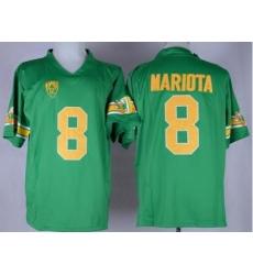Oregon Ducks #8 Marcus Mariota Green 1994 Throwback Stitched NCAA Jersey