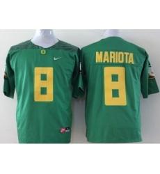 Oregon Ducks #8 Marcus Mariota Green Diamond Quest Stitched NCAA Jersey