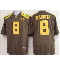 Oregon Ducks #8 Marcus Mariota Olive Limited Stitched NCAA Jersey