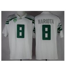 Oregon Ducks #8 Marcus Mariota White Mach Speed Limited Stitched NCAA Jersey