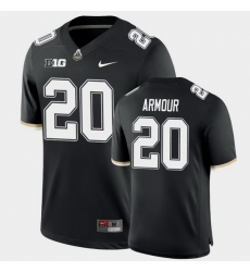 Men Purdue Boilermakers Alfred Armour College Football Game Black Jersey