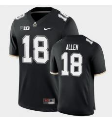 Men Purdue Boilermakers Cam Allen College Football Game Black Jersey