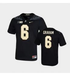 Men Purdue Boilermakers Jalen Graham Game Football Black Jersey