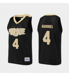 Men Purdue Boilermakers Robbie Hummel Alumni Black Basketball Jersey