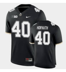 Men Purdue Boilermakers Zander Horvath College Football Game Black Jersey