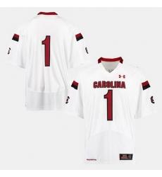 Men South Carolina Gamecocks College Football White Jersey