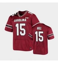 Men South Carolina Gamecocks Collin Hill Replica Garnet Football Jersey