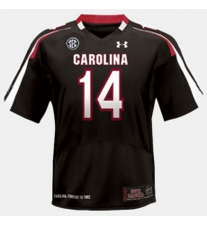 Men South Carolina Gamecocks Connor Shaw College Football Black Jersey