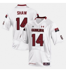 Men South Carolina Gamecocks Connor Shaw College Football White Jersey
