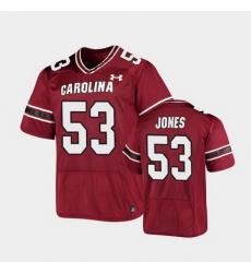 Men South Carolina Gamecocks Ernest Jones Replica Garnet Football Jersey