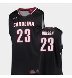 Men South Carolina Gamecocks Evan Hinson Black Replica College Basketball Jersey