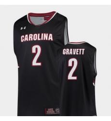 Men South Carolina Gamecocks Hassani Gravett Black Replica College Basketball Jersey