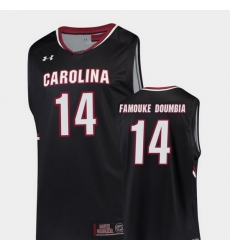 Men South Carolina Gamecocks Ibrahim Famouke Doumbia Black Replica College Basketball Jersey